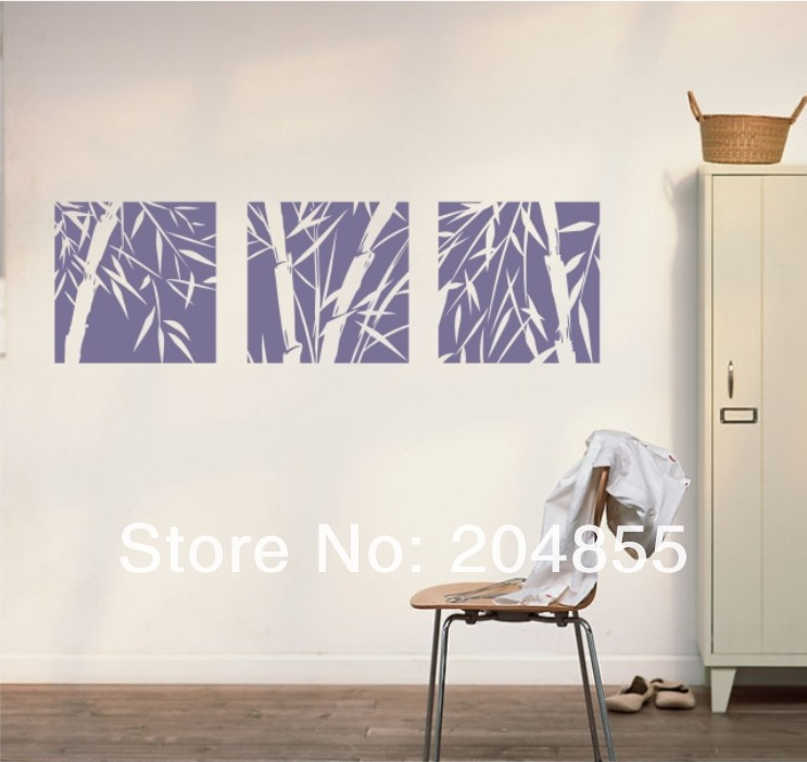 Buy the bamboo silhouette pattern pvc wall sticker home decor wall sticker from Home decor stores utah county