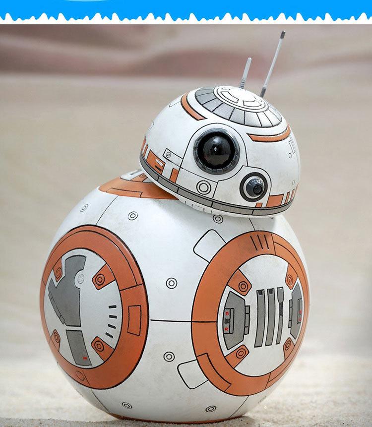 Popular toys 8.5cm Star Wars The Force Awakens BB-8 Droid Robot Daruma tumbler action figure toys Christmas gift free shipping(China (Mainland))