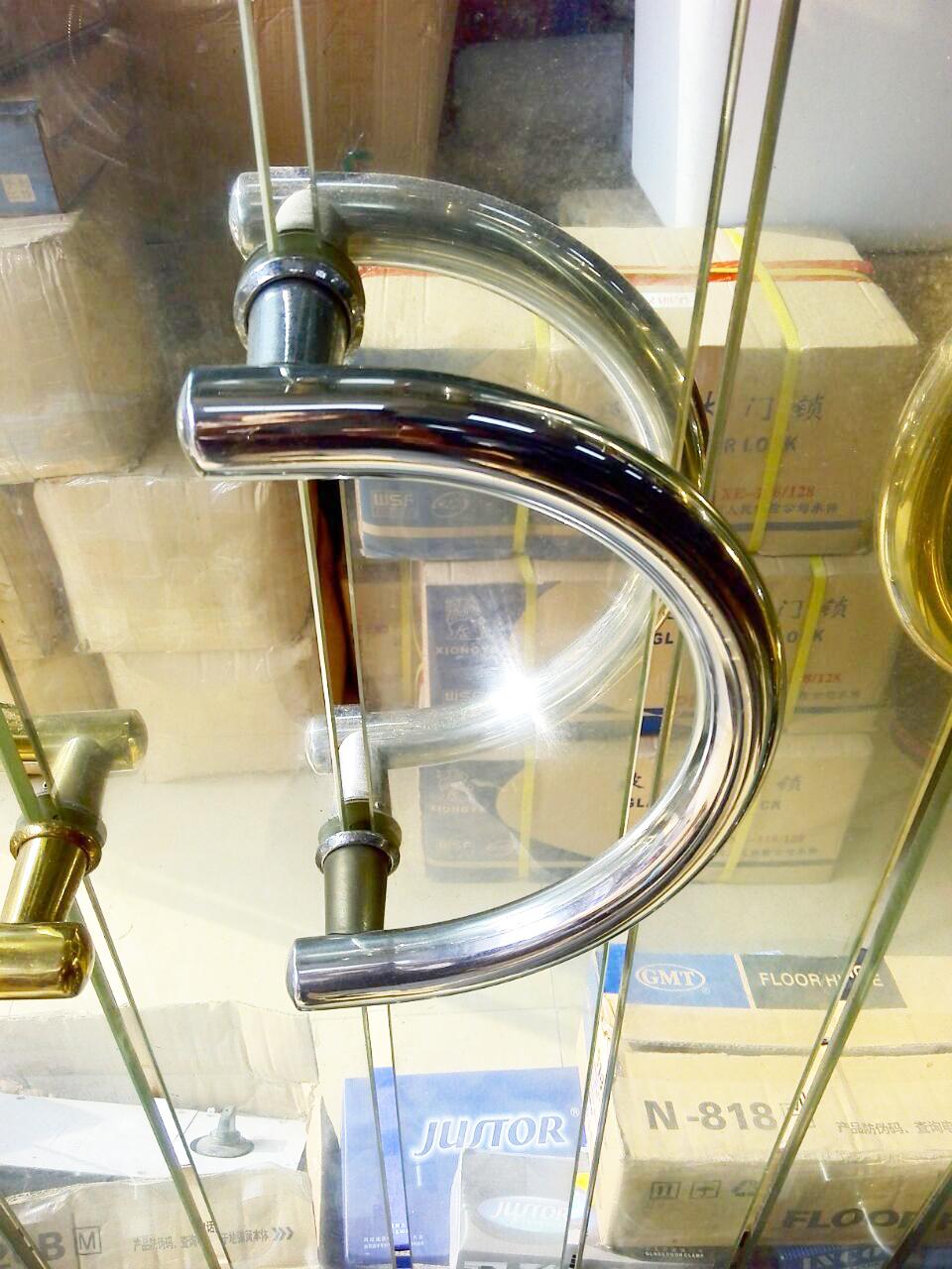 DLS-23 Semi-circular glass door handles stainless steel handle large semi-circular handle size 23cm от Aliexpress INT