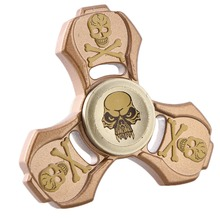 Buy New Fidget Toy Skull Hand Spinner Metal Finger Stress Spinners Tri-spinner EDC Stress Spinner ADHD Adults Kids Toy for $6.97 in AliExpress store