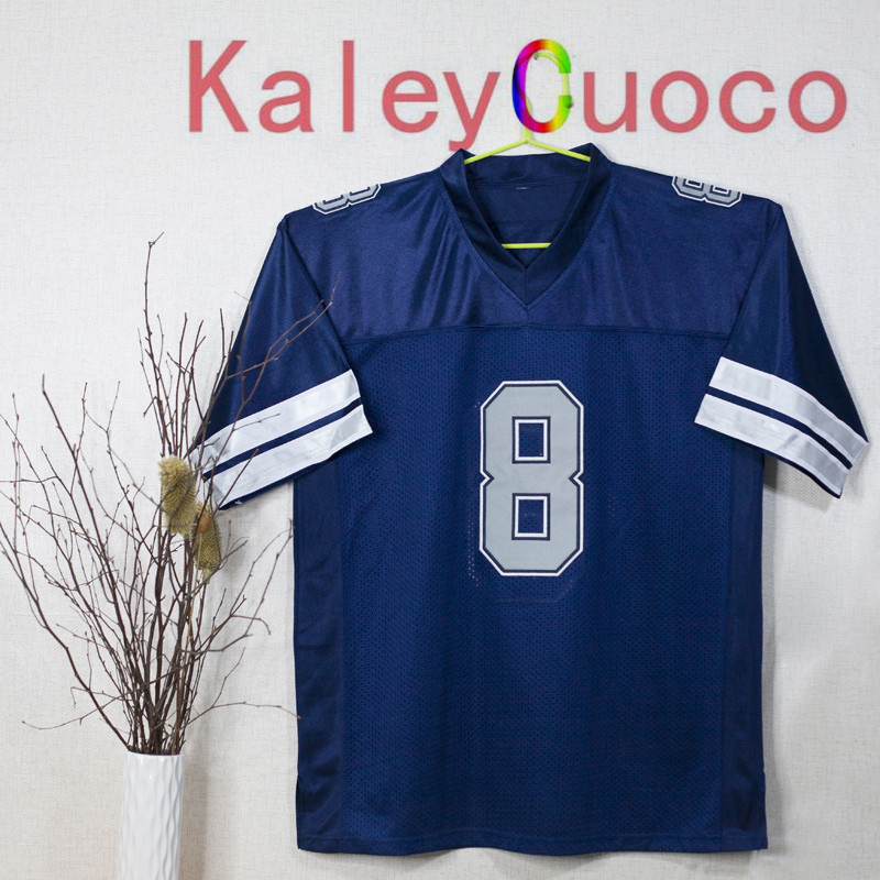 Retro star #8 Troy Aikman Embroidered Throwback Football Jersey Jersey M&N 48 50 52 54 56 Jerseys(China (Mainland))