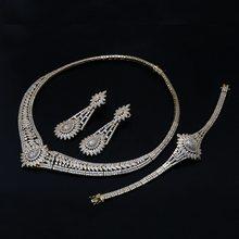 DreamCarnival 1989 Luxus Schmuck Sets für Frauen 2-Ton Gold Farbe Zirkon Hochzeit Bijoux Nahen Osten Dubai Heißer Verkauf SN06822(China)