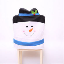 Christmas Chair Cover Santa Snowman Claus Ornaments Home Party Decoration NEW