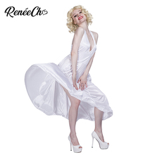 Halloween Costumes For Women Marilyn Monroe Costume Sexy White Halter Dress  Movie Hollywood Star Cosplay For 428456bf90