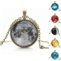 picture art galaxy pendente collana in vetro cabochon collana bronzo antico argento chock collana donne collana dei monili di modo