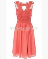 Schaufel türkis/Korallen Brautjungfern kleid billig kurz brautjungfer kleid spitze abendkleid 2014 neue für brautjungfer unter $70